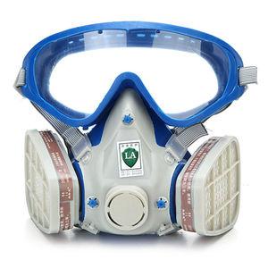 Image 1 - Gas Comprehensive Cover Paint Chemical Mask & Goggles Pesticide Dustproof Fire Escape  respirator carbon filter mask