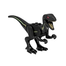 цена Jurassic Dinosaur World Indoraptor Building Blocks Jurrassic Dinosaur Figures Bricks Toys For Children Compatible With Legoings