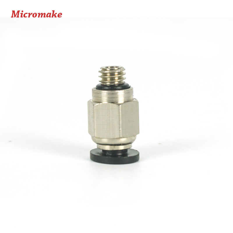 5pcs 1.75mm 3D Printer 4mm//6mm Push in PTFE Tube Fitting Pneumatic Connector Parts for Reprap