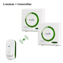 2 color Wireless Battery Doorbell Chime Kit Remote door bell Button with Receiver LED Indicator F9508 цены онлайн
