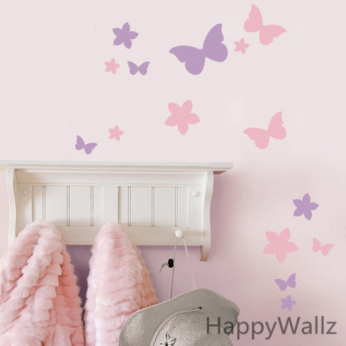 Online Shop Butterfly Flower Wall Sticker DIY Flowers Butterfly Wall Decal  Kids Room Modern Decorating Removable Wall Decors A18 | Aliexpress Mobile