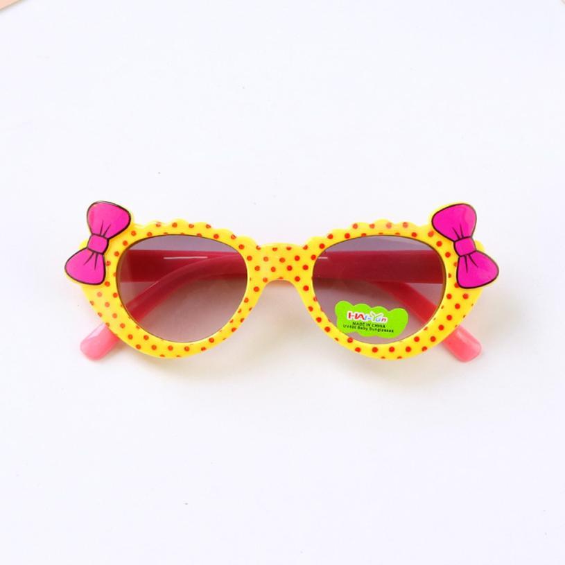 Flawless Cycling Eyewear Anti-UV Sunglasses Kids Boys Baby Girls Cartoon Protective Glasses Bow Pop Sunglasses Kinds Spectacles