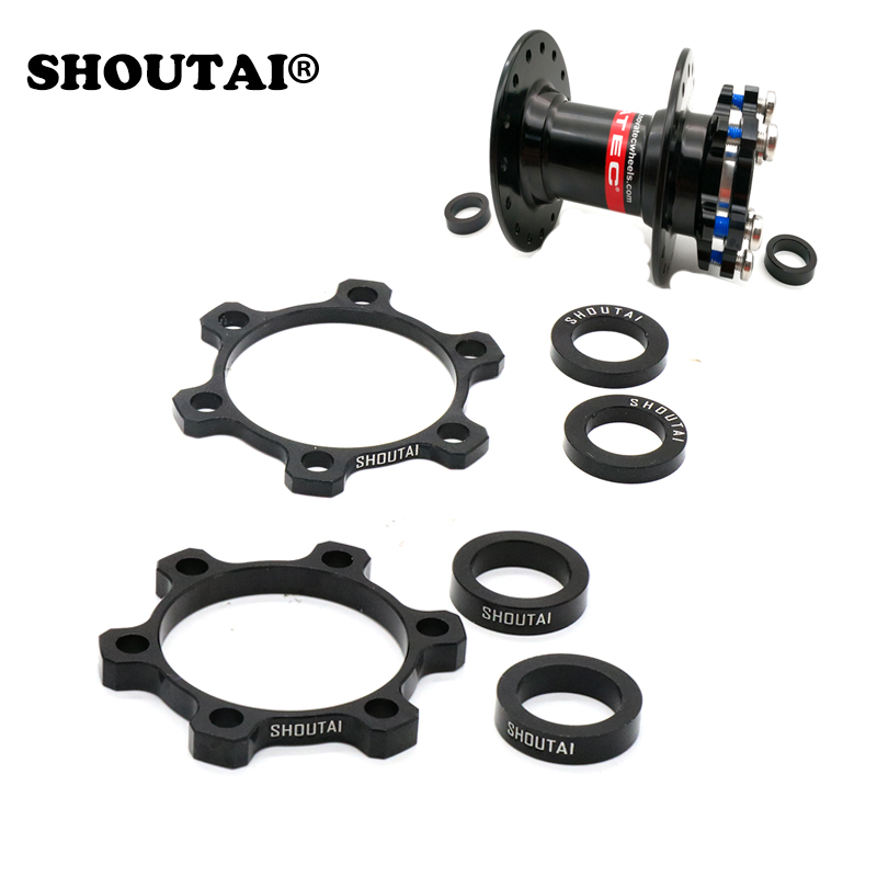 2Pcs Bike Hub Front Tube Shaft Conversion Seat Adapter 74 to 100mm Extension