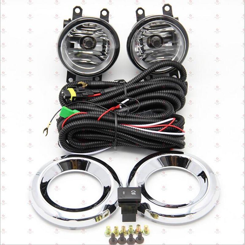 ФОТО Hireno Car Fog lights Lamp Cable Harness halogen light switch control Set for Toyota RAV4 2010-14 2Pcs
