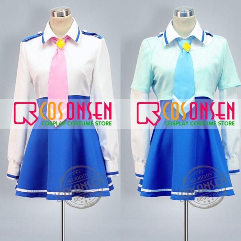 COSPLAYONSEN Smile PreCure Miyuki Hoshizora Reika Aoki Cosplay Costume Nanairogaoka Middle School  Uniform All Size