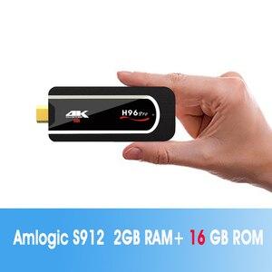 Image 3 - H96 Pro 4k Mini TV Stick Octa Core Amlogic S912 DDR3 2GB ROM 16GB Android 7.1 Mini PC 2.4G Wifi HD2.0 BT4.1 Smart Android TV box