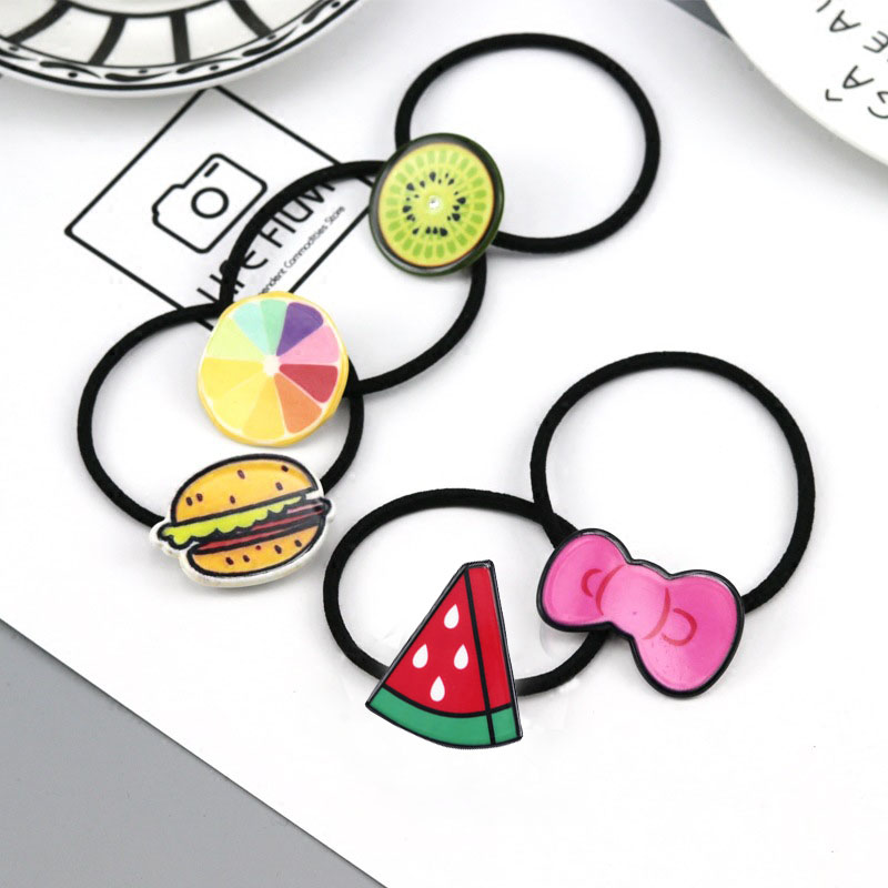 1PCS Novelty Hot Sale Girl's Cartoon character animal Character Hair Accessories Fashion Kids Candy Rubber Bands Headwear