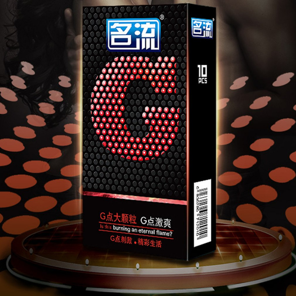 10 Pcs Mingliu G spot Condoms Big Particle Stimulation G point Penis Sleeve Delay Ejaculation Condones Contraception Men Sex Toy in Condoms from Beauty Health