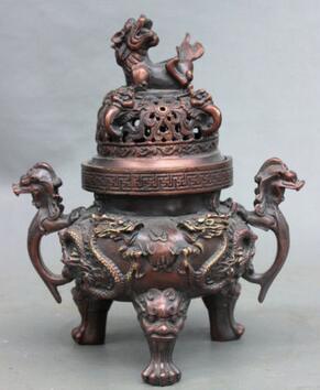 Brûleur d'encens Pi Xiu en Bronze de la dynastie chinoise