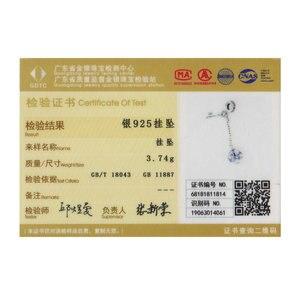 Image 5 - WOSTU 925 Sterling Zilveren Sleutel van Hart Lock Crystal CZ Ketting Kralen Bedels fit Armband & Armband Vrouwen Mode sieraden CQC772