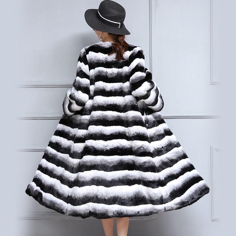 Intelligent Nerazzurri Hohe Qualität Chinchilla Pelzmantel Schrittweise Farbe Winter Warme Lange Coloreful Flauschigen Faux Pelz Mantel Plus Größe 5xl 6xl