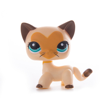 Lps old collection Pet Shop Lps cat Toys Short Hair Cat Action Standing Figure Cosplay Toys Children Best Gift цена 2017