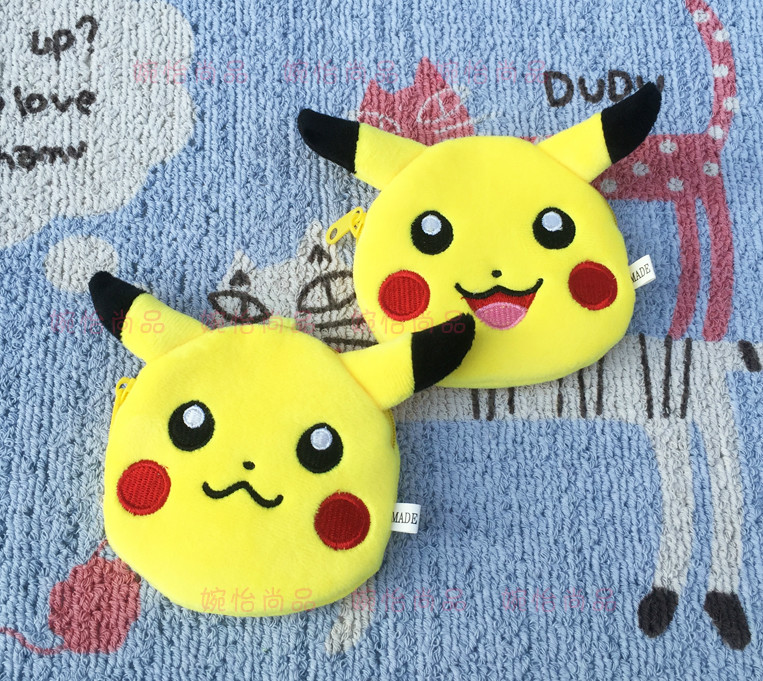 IVYYE 10CM Pocket Monster POKE Anime Plush Coin Purse Cartoon Soft Change Purses Coins Pouch Wallet Card Key Bags Kid Gifts