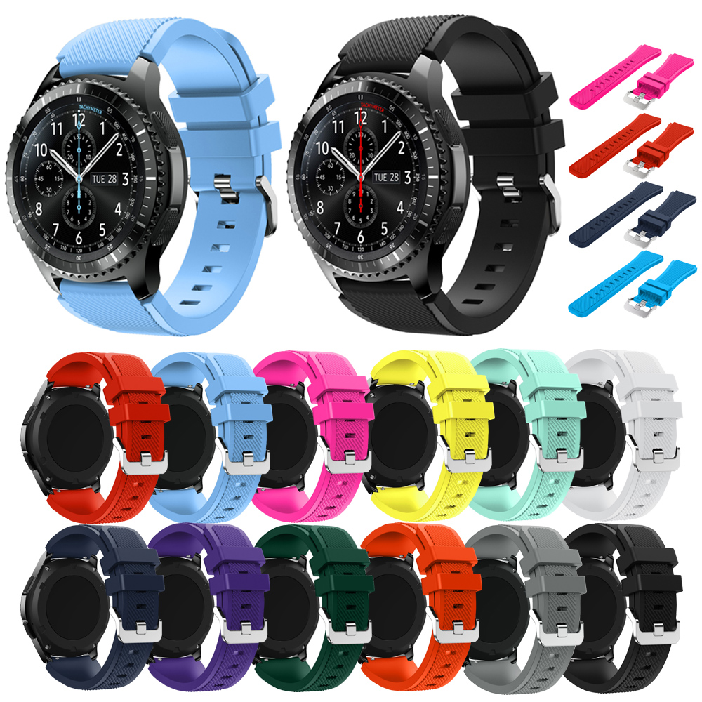 Sport Bracelet For Samsung Gear S3 Frontier Classic Band 22mm Watch Strap Silicone Bands For Samsung Galaxy Watch 46mm Straps