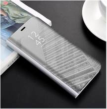 For Huawei P20 p20pro p20lite Intelligent Wake-up Electroplated Mirror Cover Vertical Bracket Cover Protection Cover(China)