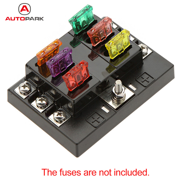 hot sale 6 way circuit car fuse box holder 32v dc waterproof blade rh aliexpress com car light fuse box fuse box car lighter