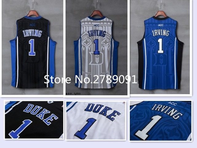 wholesale dealer 217a0 f788f 2018 New Kyrie Irving  1 Duke Blue Devils College Throwback Basketball  Jersey Stitched S-XXL