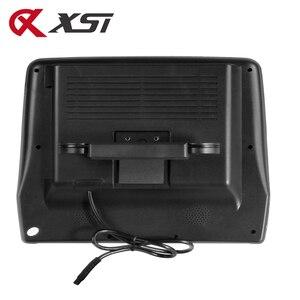 Image 2 - XST 2PCS 9 นิ้ว Car Headrest Monitor MP5 เครื่องเล่น DVD USB/SD/หน้าจอ LCD ด้านหลังเครื่องส่งสัญญาณ IR/FM รีโมทคอนโทรล