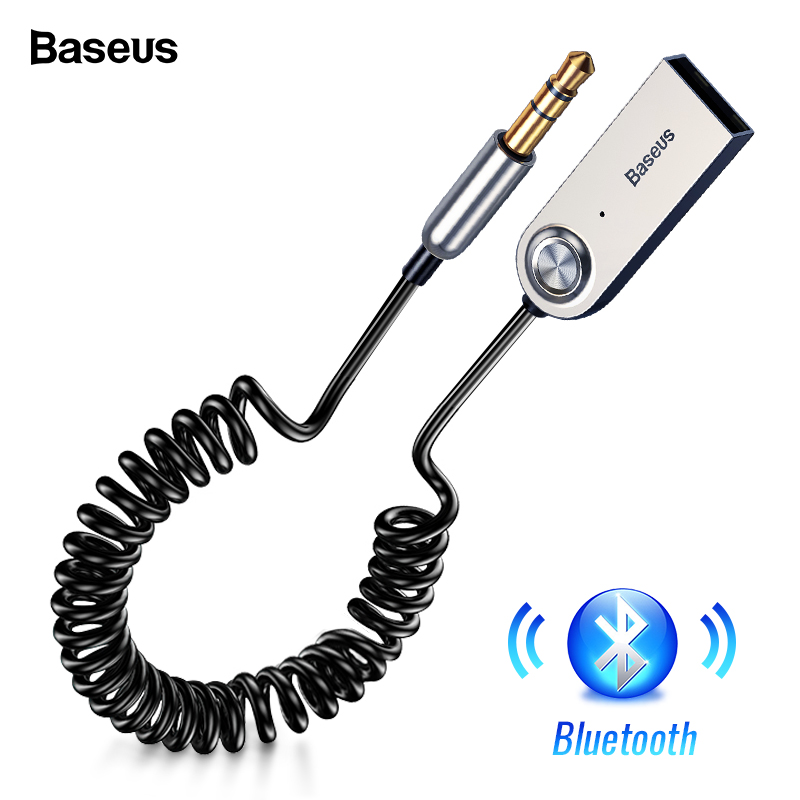 Baseus manos libres Aux USB Bluetooth Dongle del adaptador de Cable para coche 3,5mm Jack Aux Bluetooth 5,0 de 4,2 de 4,0 receptor de Audio transmisor