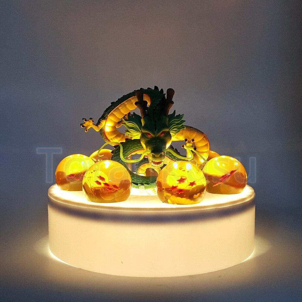 لعبة دراغون بول Z عمل الشكل Shenron سيستدعى الكريستال الكرة PVC لعبة مجسمة أنيمي لعبة دراغون بول سوبر Drgaon مع قاعدة تمثال DBZ دمية DIY105-في شخصيات دمى وحركة من الألعاب والهوايات على  مجموعة 1