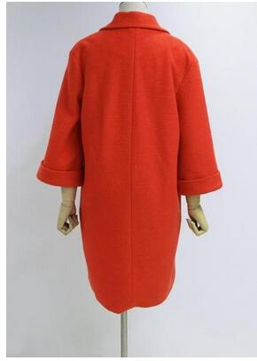 Nouveau Automne Lining Mujer Abrigos Polyester Orange Femme Femmes Manches Laine Belle Style Pardessus Lining De Warm quilted Manteau Flare Pop hiver YEYgTnA