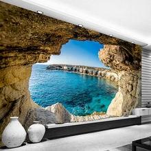 Фотообои современная простая пещера морской пейзаж фотообои