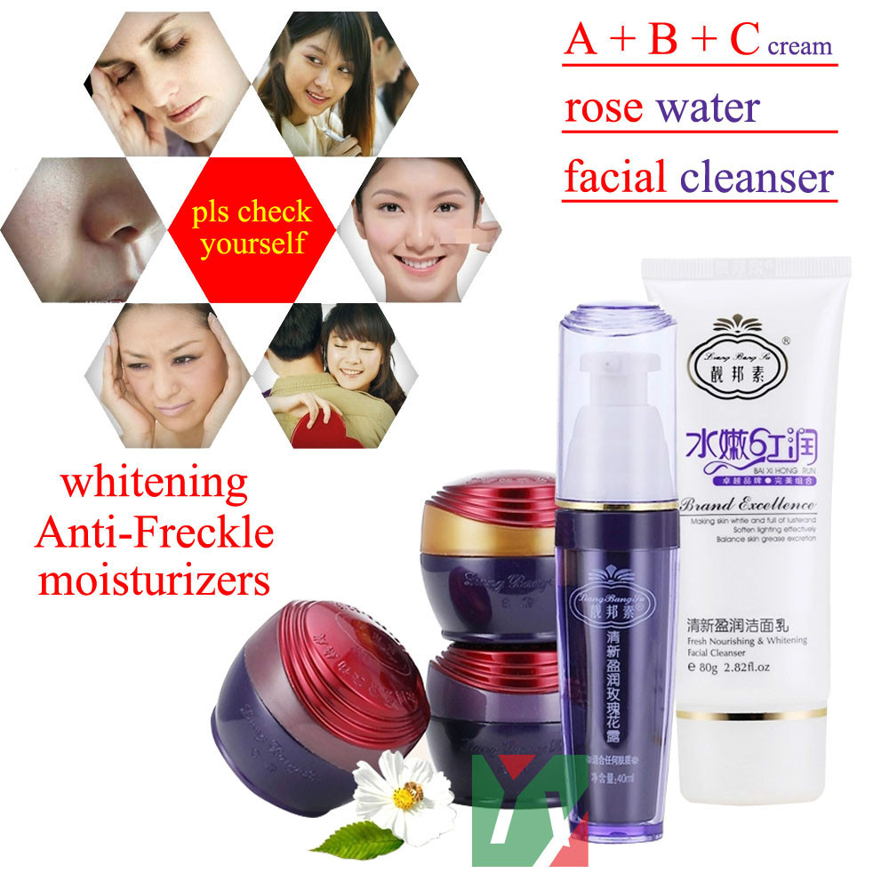 100% original face care Liang Bang Su professional whitening cream for face anti freckle face cream anti spot whitening blemish serum black melanomas downplay the spot whitening skin care 7 1000ml cream for black spot free shipping