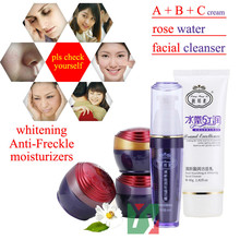 Liang Bang Su professional whitening cream for face anti freckle face cream+anti spot face mask 8pcs 100% original