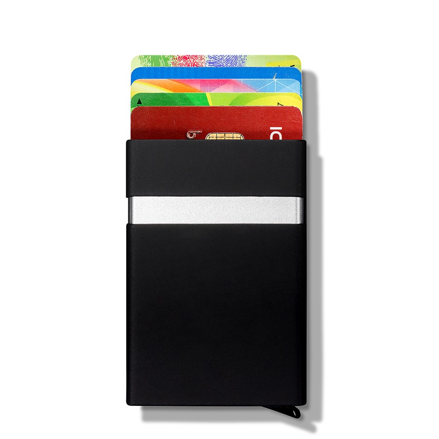 NewBring Compact RFID Blocking Unisex Small Credit Card & ID Holders Man Business Card Holder Wallet Man