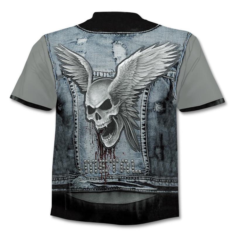 Camiseta ajustada de calidad con estampado 3D Calavera 3