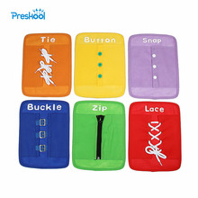 Baby Toy Montessori Dressing Frames Set of 6 Zip Snap Button Buckle Lace Tie Early Education