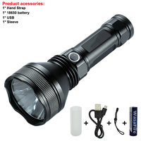 Powerful Self Defense Tactical Lantern xhp50 Led Flashlight Portable USB Rechargeable Torch Patrol Light Lamp With 18650 Battery