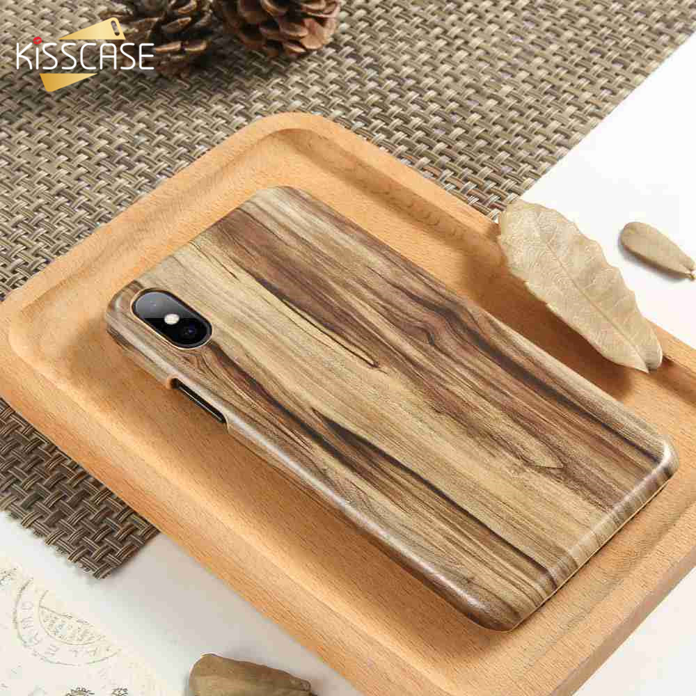 KISSCASE Genuine Wood Case For Samsung Galaxy S8 Full Fitted Hard Plus S7 Edge S6 Coque