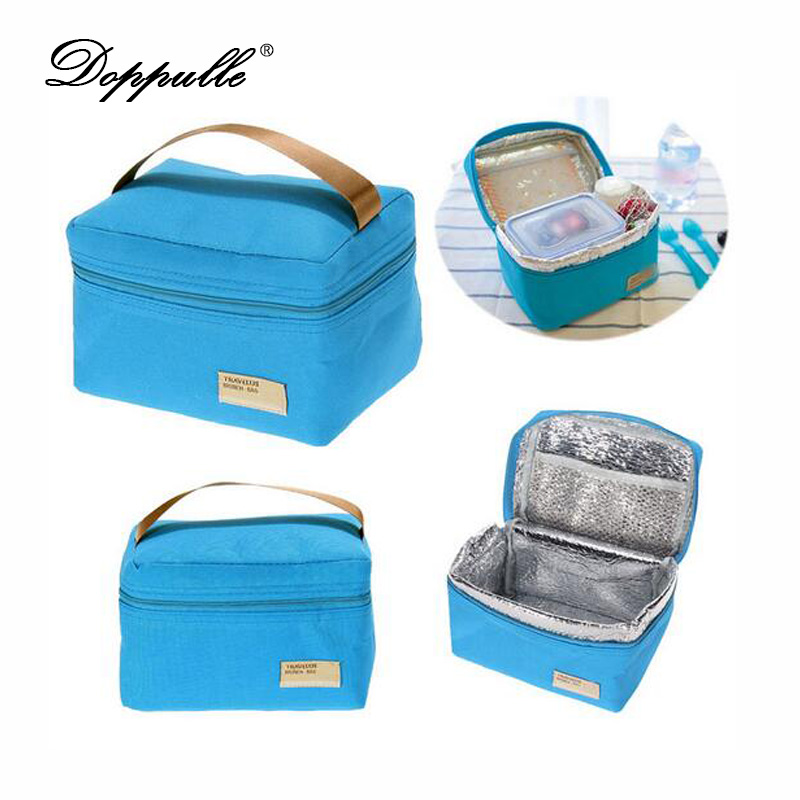 2017 hot convenient portable insulated thermal cooler bento kids lunch box tote picnic storage. Black Bedroom Furniture Sets. Home Design Ideas