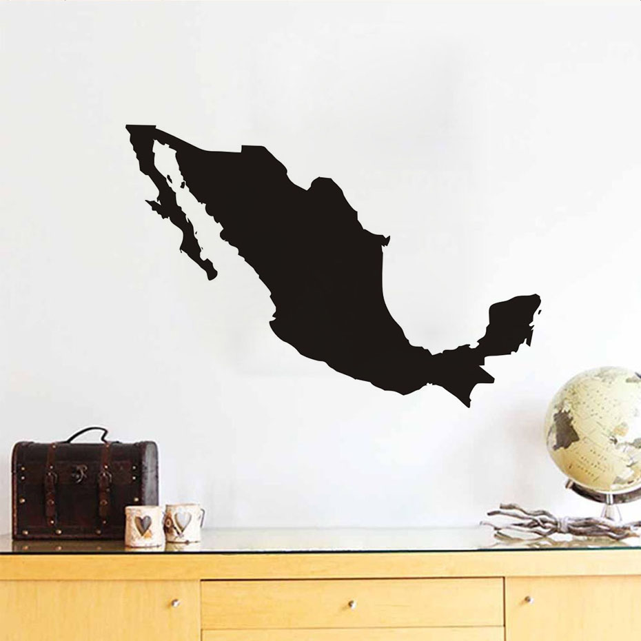 B Color Mural Mexico Map Silhouette Wall Sticker Adhesive Removable Muursticker Pvc Waterproof Home Decor On The Wall