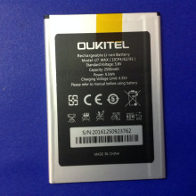 Oukitel U7 MAX Battery 100% Original 2500mAh Backup Battery Replacement For Oukitel U7 MAX Mobile Phone replacement projector lamp bulb 28 057 u7 300 for u7 137sf u7 132 u7 132h u7 132hsf u7 132sf u7 137 u7 300