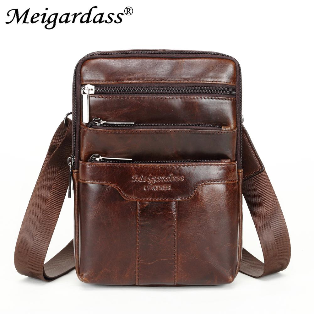 """MEIGARDASS Vintage Genuine Leather Shoulder Bags Men Messenger Bag Travel Chest Bag Pack Male Business 7.9"""" iPad Handbags Purse on AliExpress - 11.11_Double 11_Singles' Day 1"""