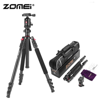 Zomei M7 Travel Compact Tripod with Ball Head Quick Release Plate DSLR Tripod Monopod Stand for Camera Canon Nikon Sony DSLR DV