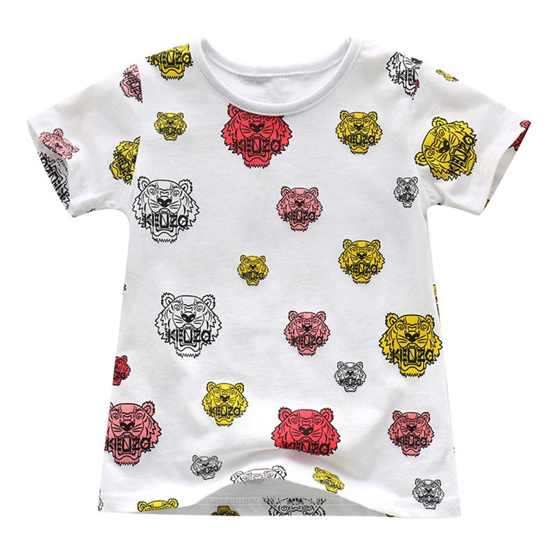 32d9c11f9 Hot selling baby boys girls novelty cartoon t shirts kids short sleeves summer  t shirt with printed some tiger heads top quality