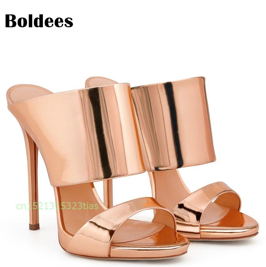 As Sling Plateado Zapatos Alto Punta De Color Mujeres Tamaño Own0Pk
