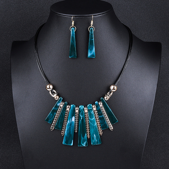 Luxury Choker Drop Tassel Statement Maxi Jewelry Set 1