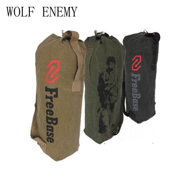 Lienzo grande Bolsos de hombro Freebase soldado del ejército mochila de  lona táctico deporte al aire libre hombres escalada camping bolsa de hombro c392b2decec67