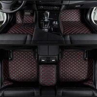 car floor mats for Acura All Models MDX RDX ZDX RL TL ILX TLX CDX car accessories AUTO sticker Custom foot mats Black/Red/beige