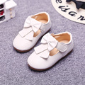 Cute Princess Girls Shoes Bowknot Solid Color Children Shoes Fashion White Black Pink Yellow Casual Flats Kids Shoes