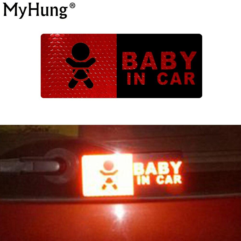 Αντανακλαστική ταινία σε φύλλα Baby σε αυτοκόλλητο Αυτοκόλλητο αυτοκινήτου Προειδοποίηση αυτοκινήτου Αυτοκίνητο Αυτοκίνητο Decal Αντανάκλαση Διακόσμηση χρώματος 15x6cm
