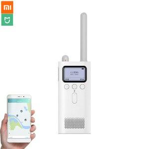 Image 1 - Original Xiaomi Mijia Walkie Talkie 8 Days Standby Bluetooth 4.0 With FM Radio Handfree Talk Smart Phone APP Location Sharing