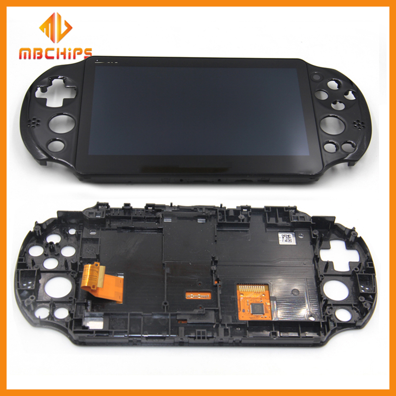 Original Assembled LCD <font><b>Screen</b></font> Display with frame replacement for <font><b>PS</b></font> <font><b>Vita</b></font> <font><b>2000</b></font> Slim for PSV <font><b>2000</b></font> PSV2000 LCD image