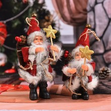 1Pcs Christmas Santa Claus Doll Toy Christmas Tree Ornaments Decoration Exquisite For Home Xmas Happy New Year Gift