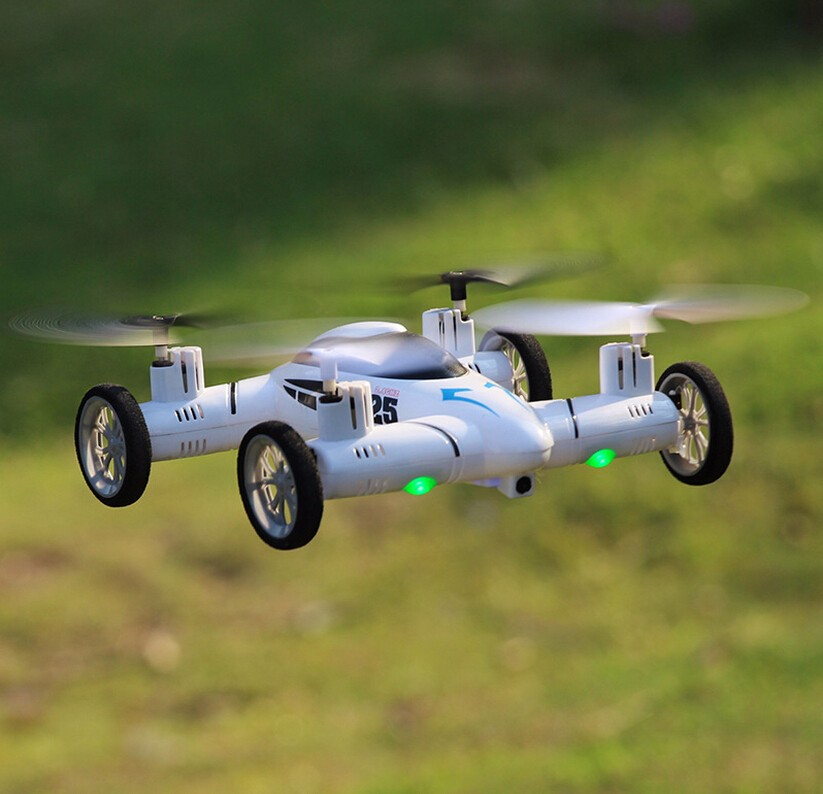 2017 Hot remote control rc drone 2.4Ghz 4ch 6 Axis Airphibian amphibious rc UAV flight helicopter Quadcopter &car in 1