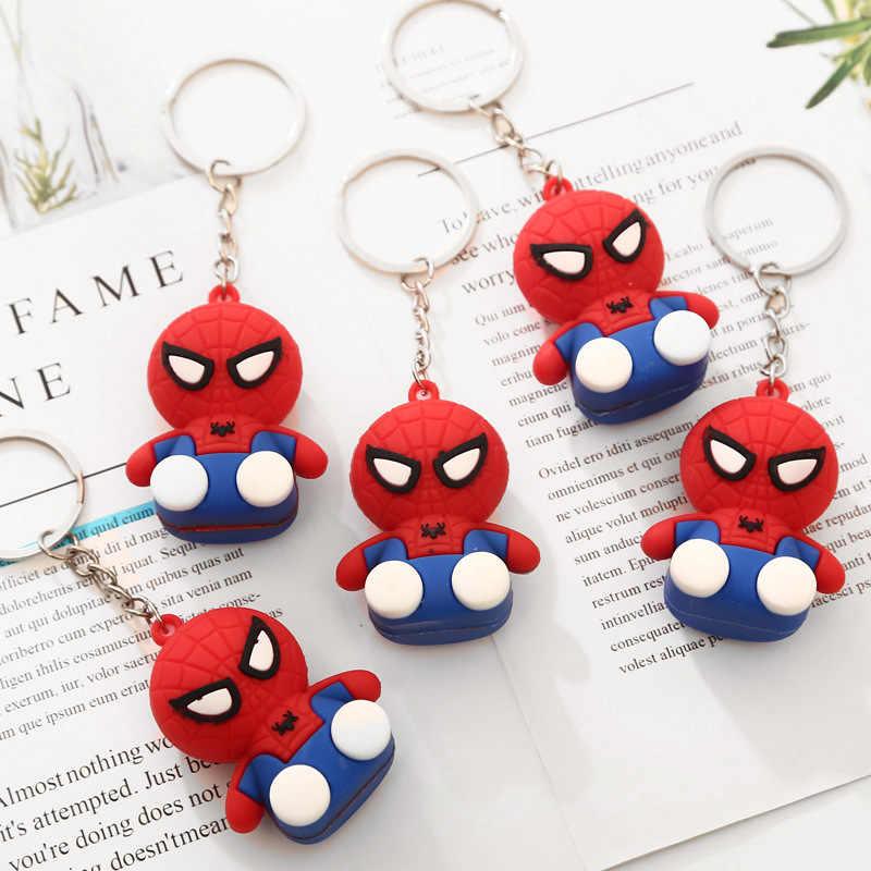 Adorável Moda Filme Spider Man Keychain Chave Do Carro Pingente Anel Chaveiros Brinquedos Do Homem Aranha Herói do Regresso A Casa Das Mulheres Chaveiros